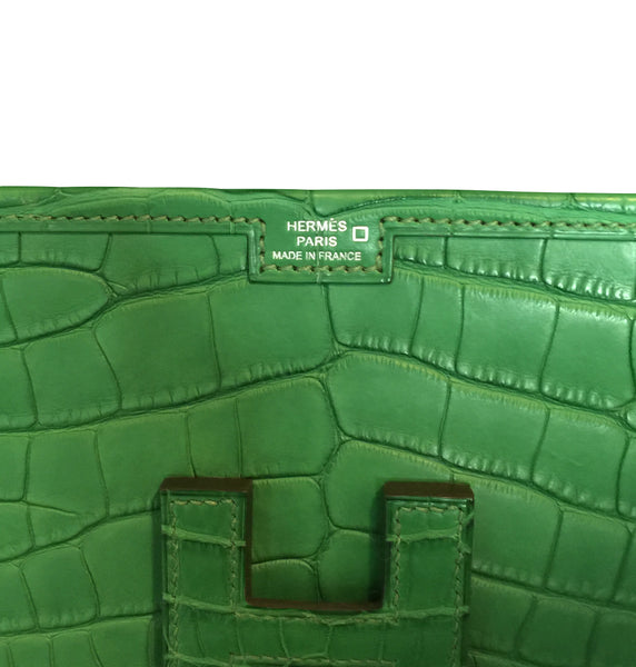 Hermes Jige Elan 29 Clutch Alligator Matte Bag pristine stamp