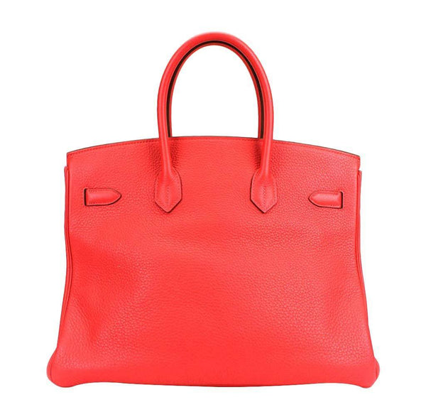 hermes birkin 35 rose jaipur used back