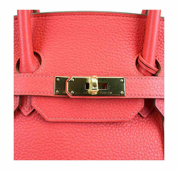 hermes birkin 35 rose jaipur used engraving