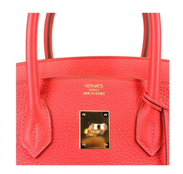 hermes birkin 35 rose jaipur used embossing