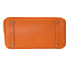 Hermes Birkin 35 Orange Togo Palladium excellent bottom