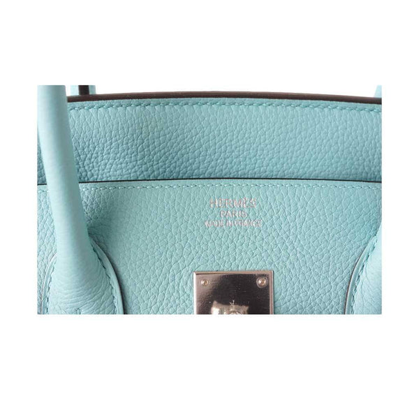 Hermes Birkin 35 Blue Atoll new embossing