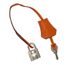 Hermes Birkin 35 Orange Togo Palladium excellent lock keys clochette