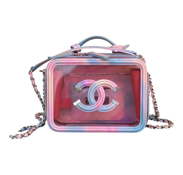 Chanel Multicolor Patent Leather Vanity Case pristine front