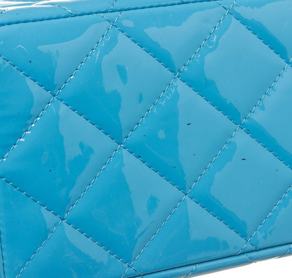 Chanel Jumbo Shoulder Flap Bag Blue Used Bottom