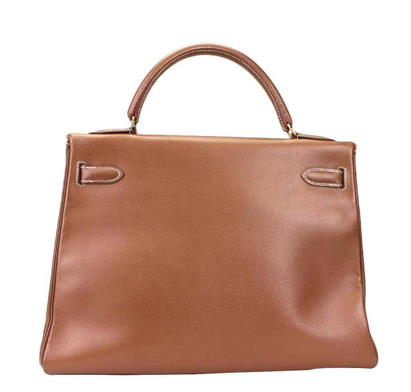 hermes kelly 32 tabac used back