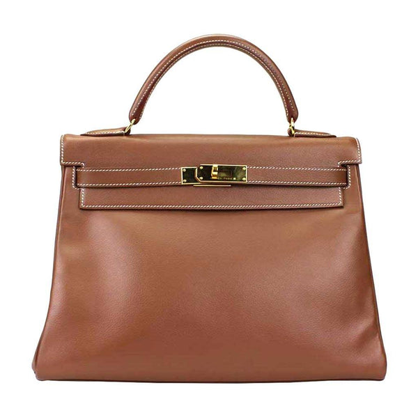 Hermes Kelly 32 Tabac Bag
