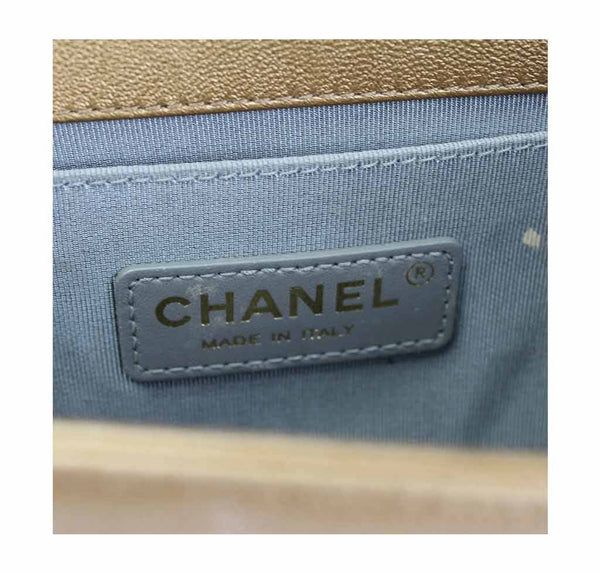 chanel runway limited edition gold metallic used detail