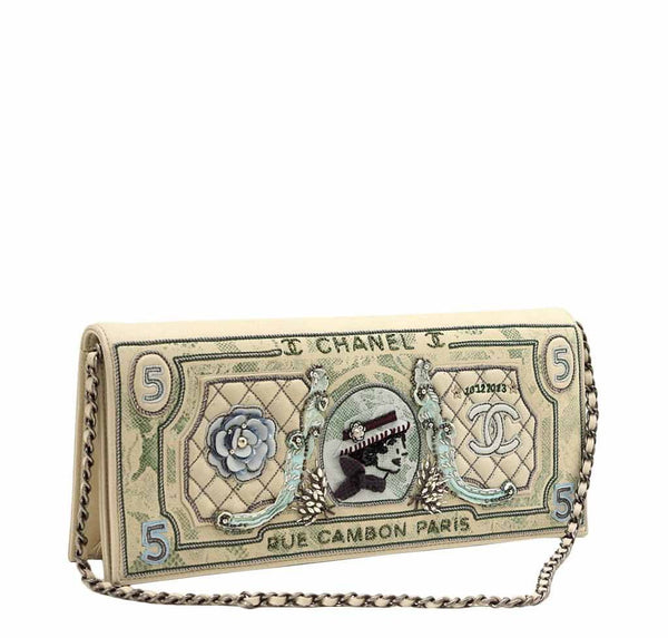 chanel dollar bag runway limited edition new front side
