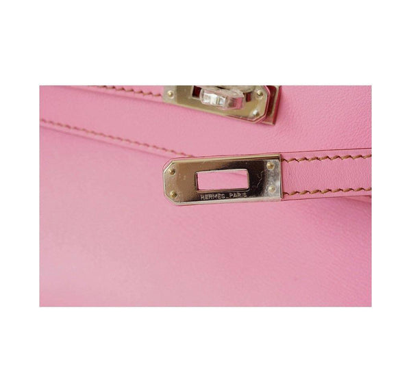 Hermes Kelly JPG Pochette Pink new engraving