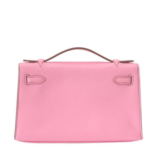 Hermes Kelly JPG Pochette Pink new back