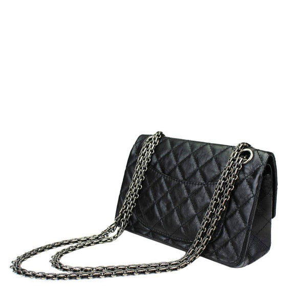 chanel lucky charm reissue 2.55 black used back