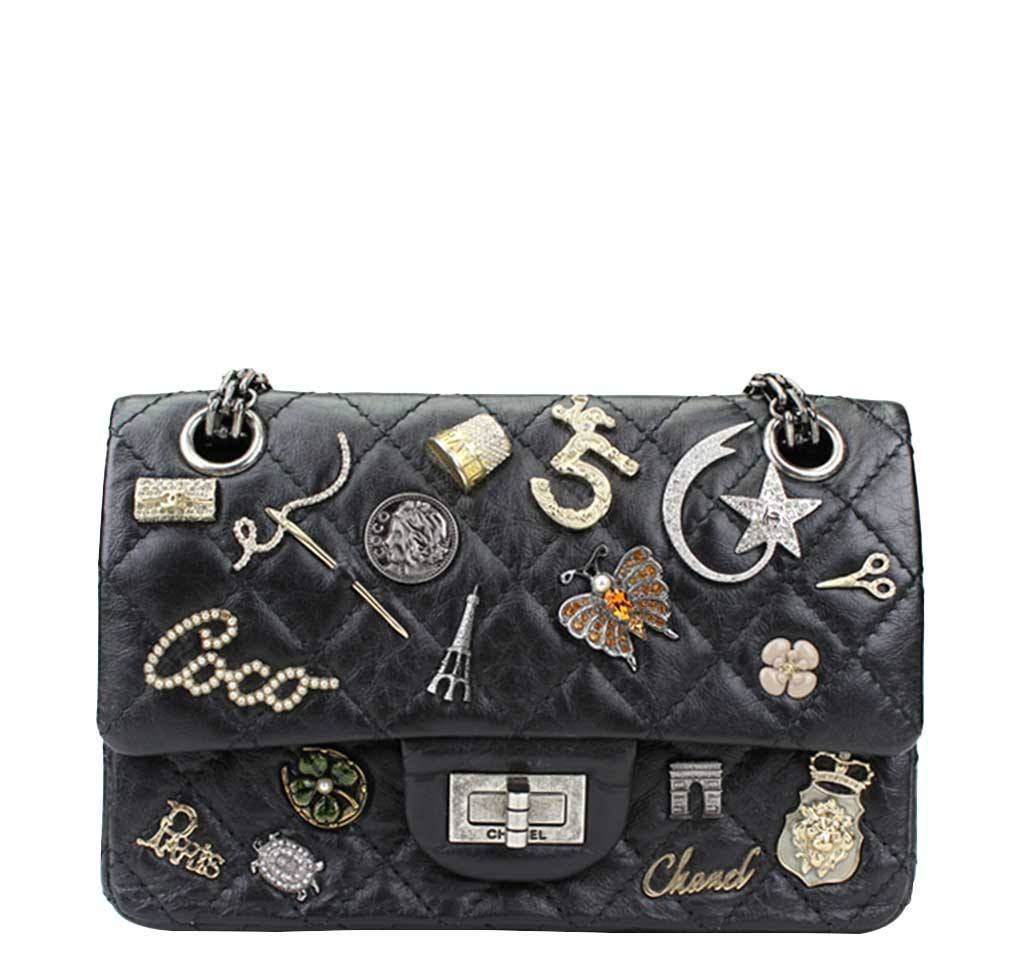 7be101a592ef55 Chanel Lucky Charm Reissue 2.55 Bag Black | Baghunter