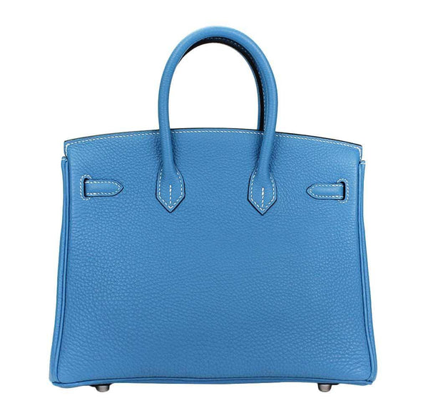 hermes birkin 25 blue jean used back