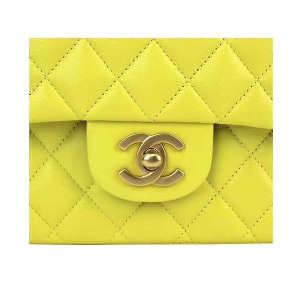chanel shoulder bag yellow used