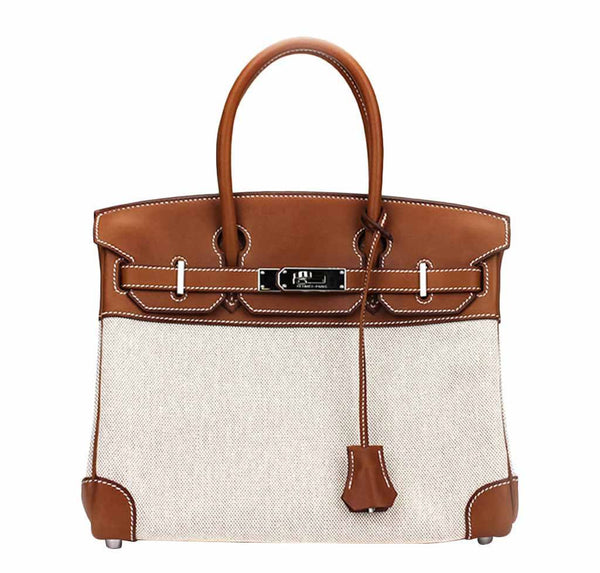 Hermes Birkin 30 Bag Toile Natural