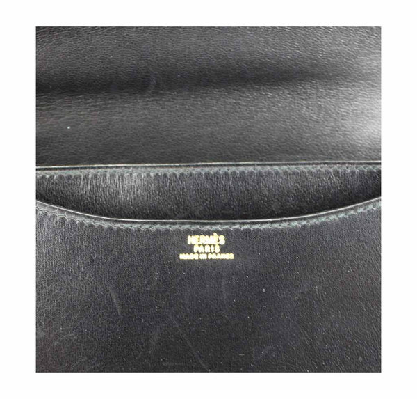 hermes constance 18 black used embossing