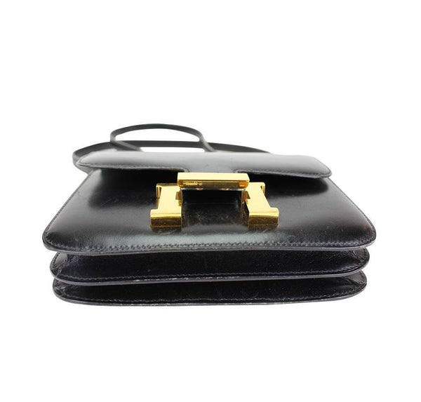 hermes constance 18 black used bottom