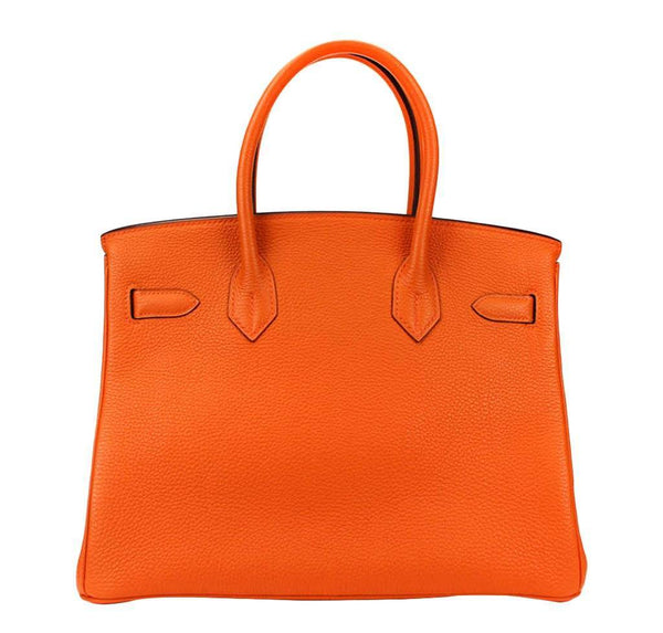 hermes birkin 30 orange used back