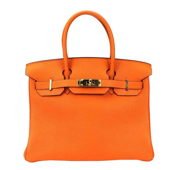Hermes Birkin 30 Orange Bag Togo
