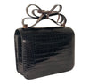 Hermes Constance 24 Alligator Noir rose gold pristine back side