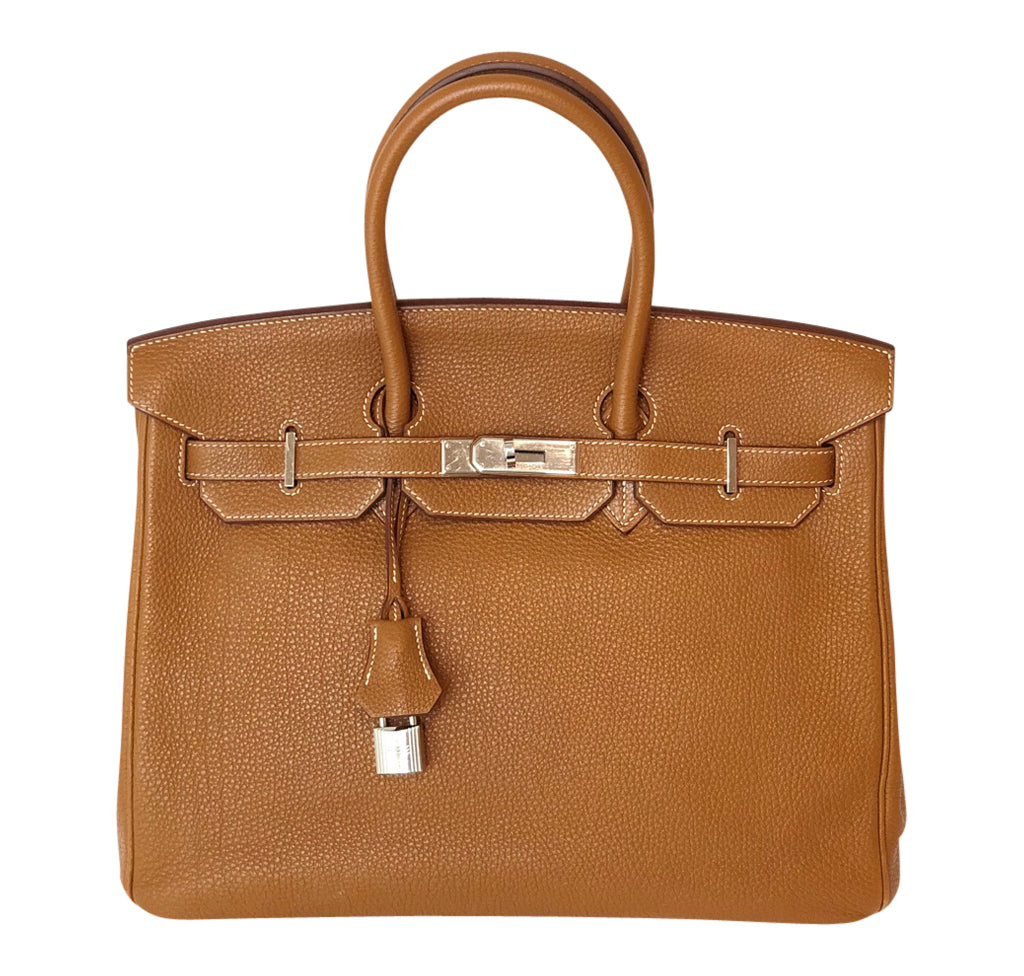 b3ea79e401d62 Hermes Birkin 35 Bag Gold Togo Palladium very good front ...