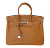 Hermes Birkin 35 Bag Gold Togo Palladium very good front