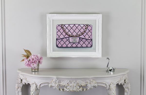 Limited Edition Diamond Bebe Rose Chanel Giclée on Wall