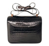 Hermes Constance 24 Alligator Noir rose gold pristine back