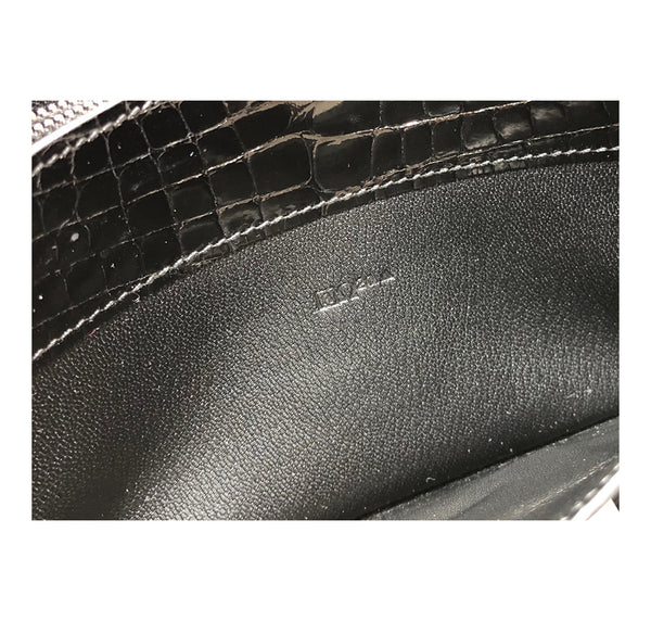 Hermes Constance Long Wallet Alligator Noir Clutch excellent blind stamp