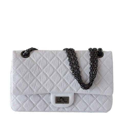 Chanel Small 225 Bag Chalk White