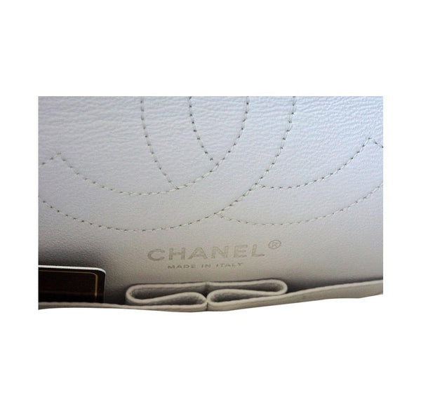 Chanel 225 bag chalk white small used stamp