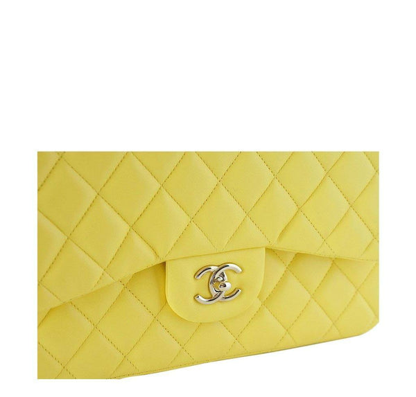 Chanel Bag Classic Double Flap Yellow New Detail