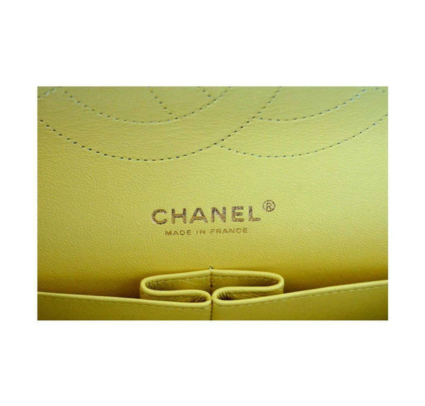 Chanel Bag Classic Double Flap Yellow New Stamp