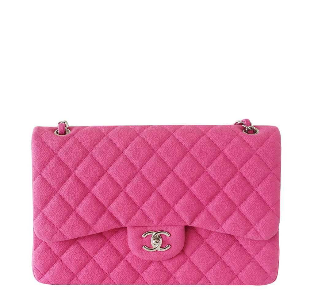 e0bde5c07549 Chanel Bag Double Flap Jumbo Fuschia - Sueded Caviar | Baghunter