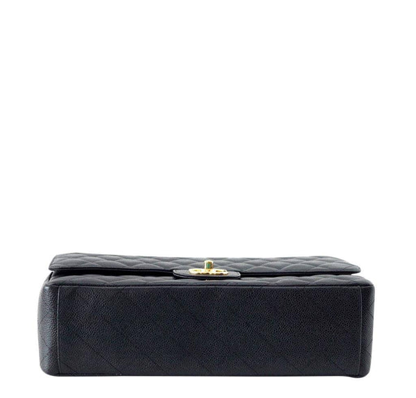 Chanel Bag Maxi Black Caviar Leather New bottom