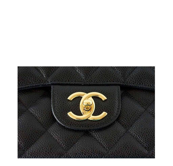 Chanel Bag Maxi Black Caviar Leather New detail