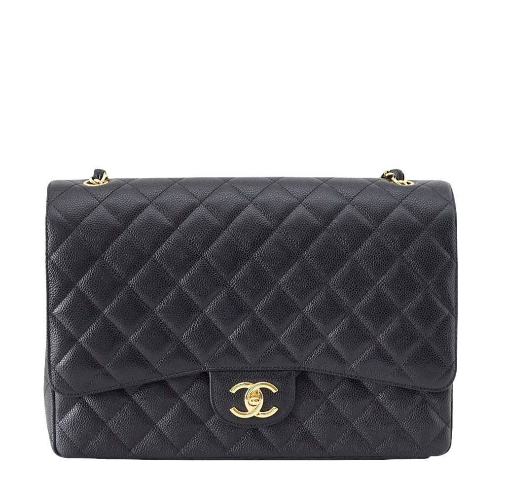 f4d3374b0661 Chanel Bag Maxi Double Flap Black - Very Rare | Baghunter