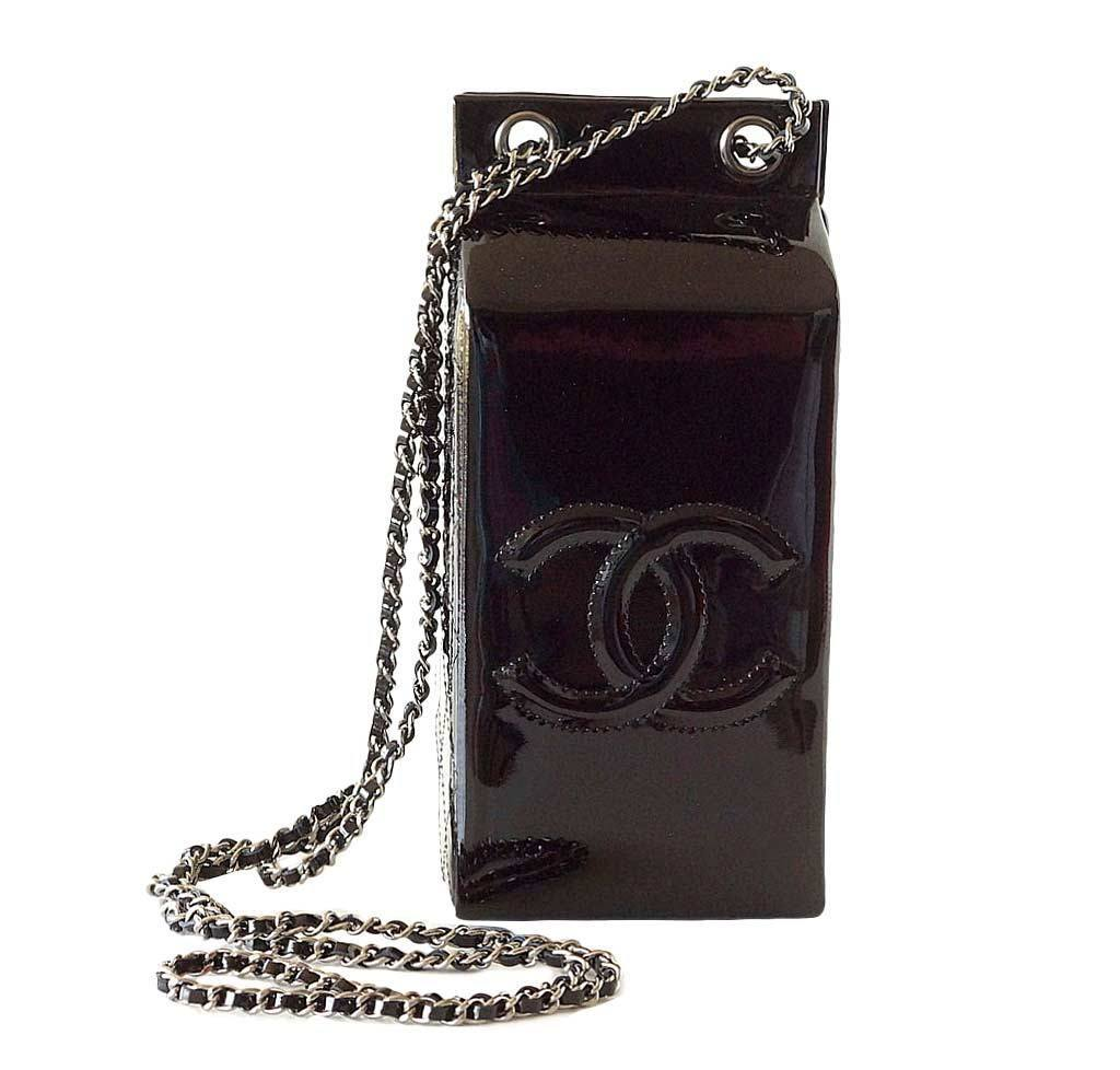 54aece62213 Chanel Milk Carton Limited Edition Bag Chanel Bag Milk Carton Black New ...