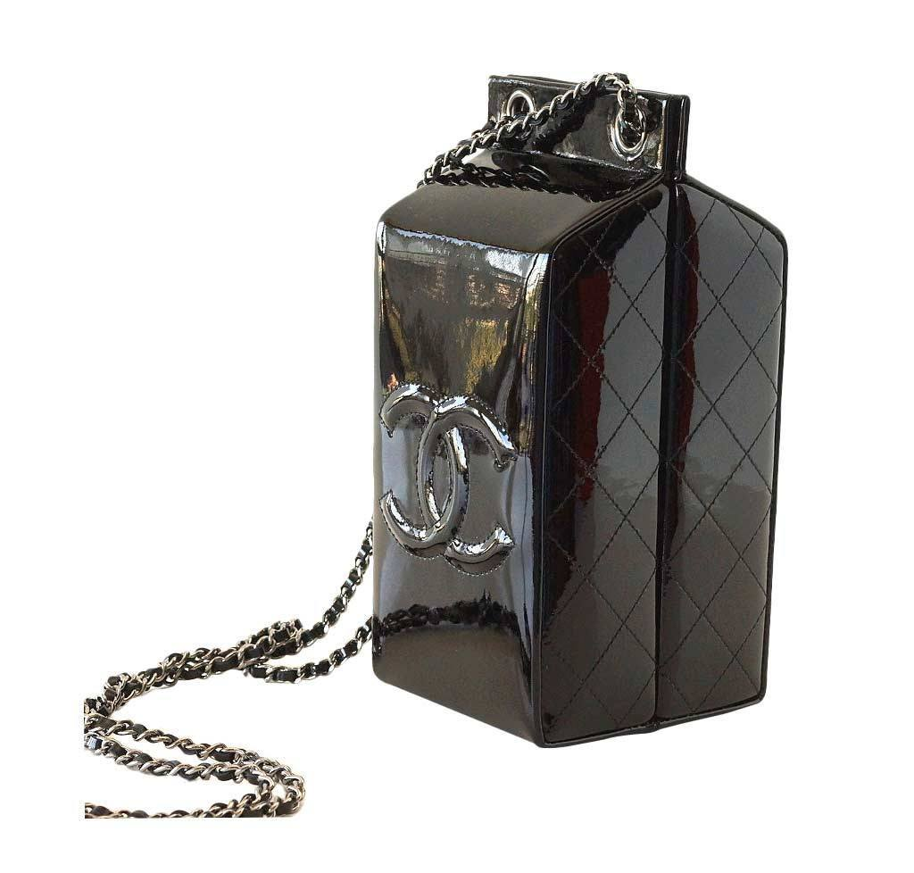 25a49fc9be Chanel Milk Carton Limited Edition Bag Black | Baghunter