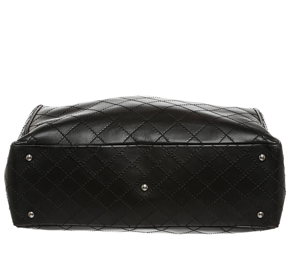 ... Chanel Small Shopping Tote 15S Black Used Bottom ... 65418d4e8b59a