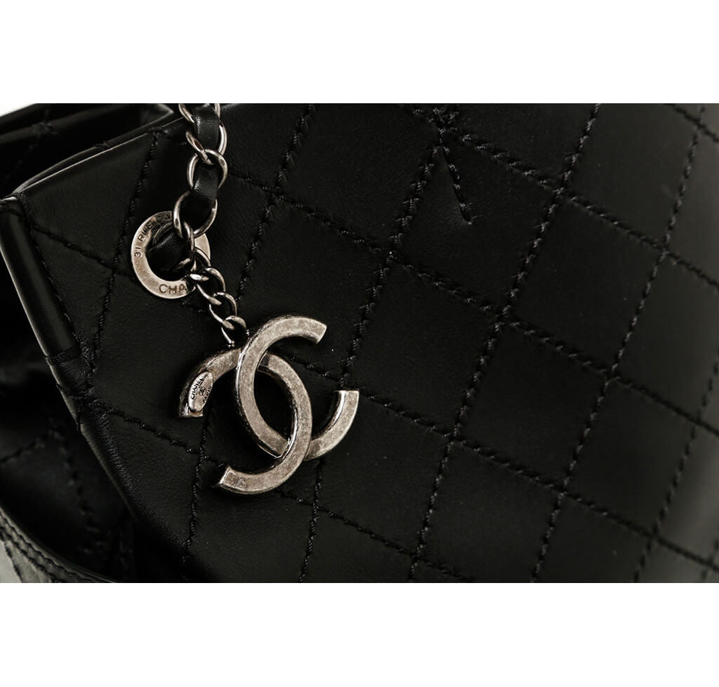 ... Chanel Small Shopping Tote 15S Black Used Detail ... 124a3f599b3e3