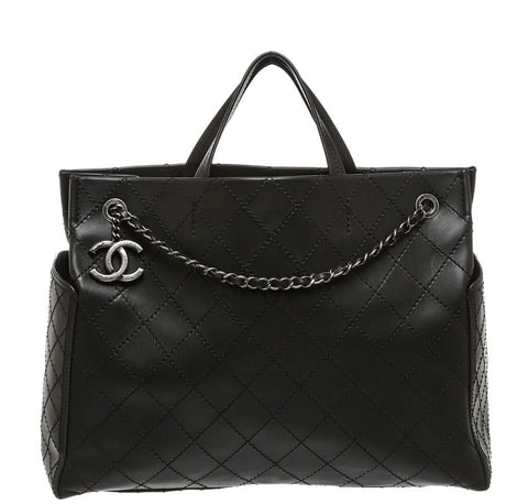 Chanel Small Shopping Tote Bag Black