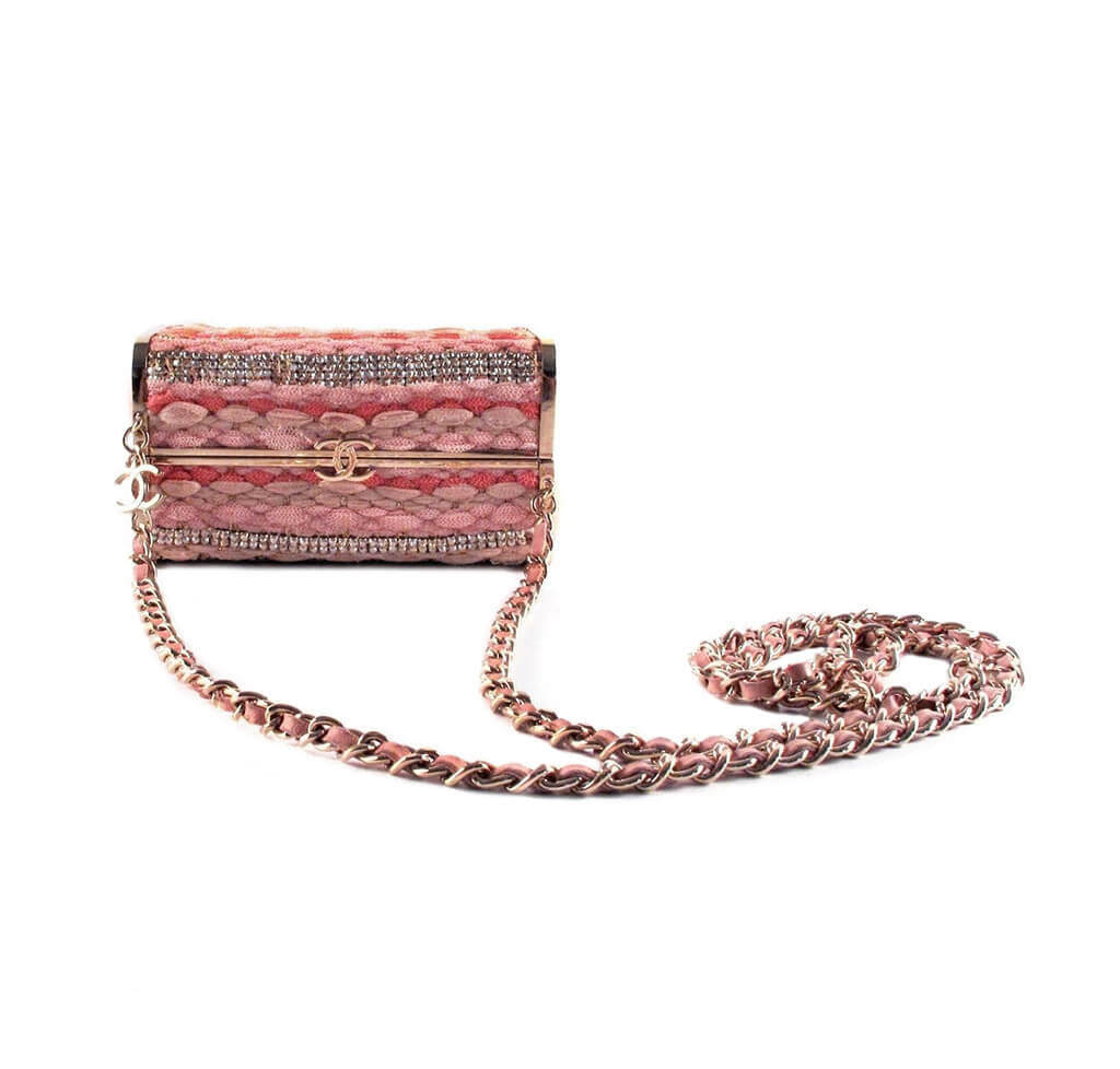 d001afd4b4cd ... Chanel Box Shoulder Bag Minaudiere Limited Edition Used Overview ...
