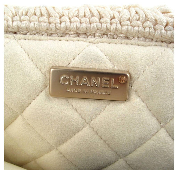 Chanel Crocheted Knit Camelllia Runway Bag New Engraving