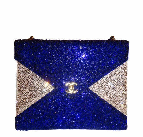 Chanel Blue Crystal Bag Limited Edition