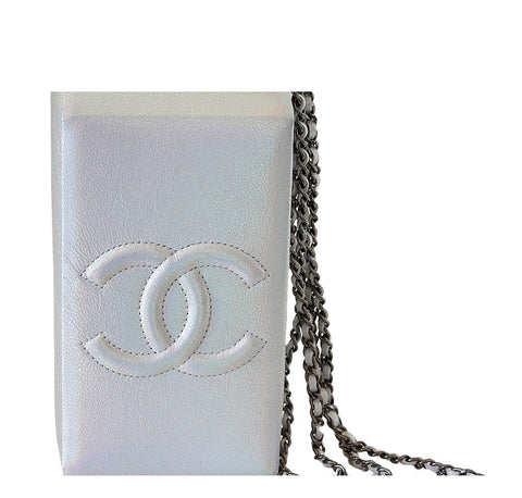 Chanel Lait De Coco Bag Silver