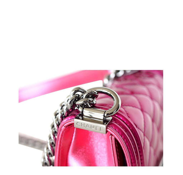 Chanel Mini Boy Bag Fuschia New Detail