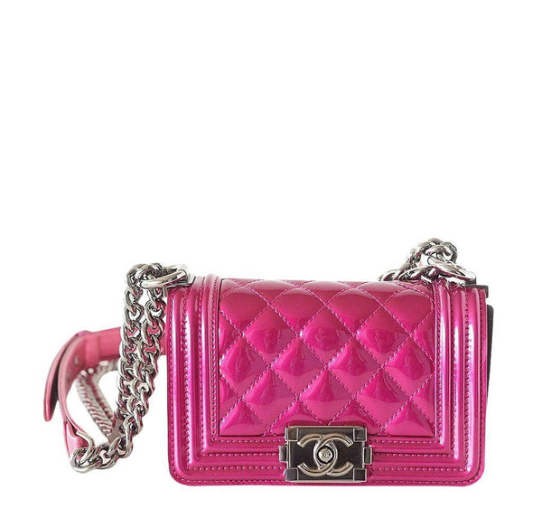 Chanel Mini Boy Bag Fuschia