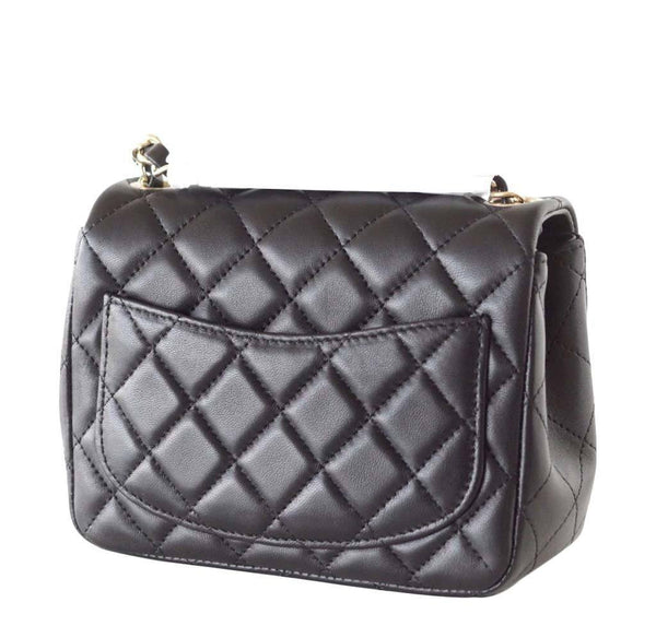 Chanel Mini Square Flap Bag Black New Back